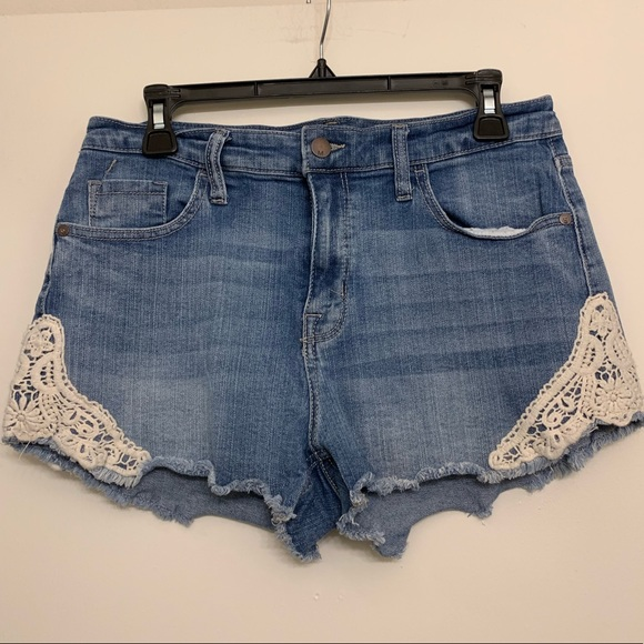 Mossimo Supply Co. Pants - BOGO ✨ Jean shorts with white lace sides size 12